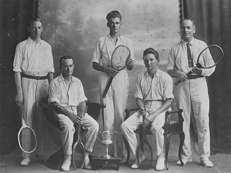 Ipswich City tennis club members in Ipswich, 1920