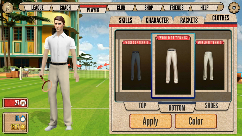 android tennis game